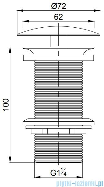 Omnires korek do syfonu umywalkowego chrom A82CR