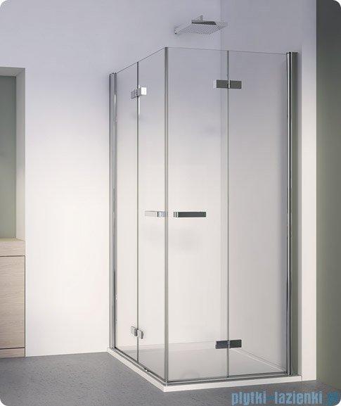 SanSwiss Swing Line F SLF2 Wejście narożne z drzwiami 100cm profil biały Lewe SLF2G10000407