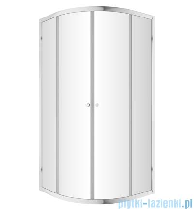 Omnires Bronx kabina asymetryczna 100x80cm szkło przejrzyste kabina prysznicowa