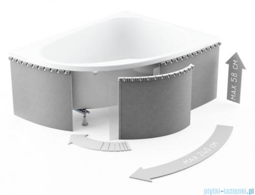 Zabudowa obudowa styropianowa elastyczna Schedpol do wanien półokrągłych 1.040