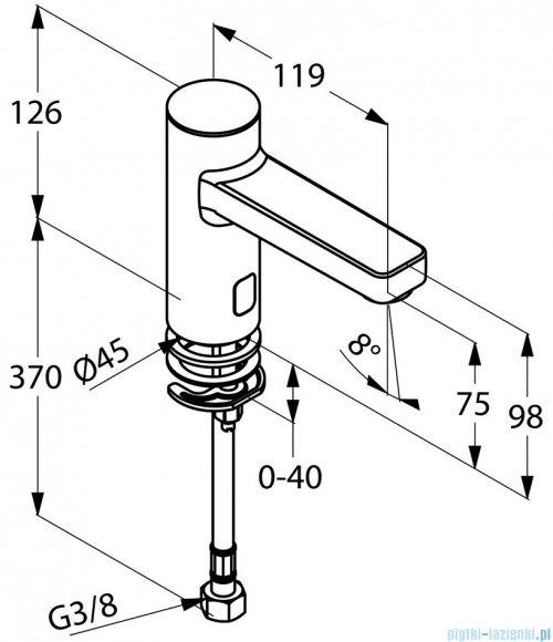 Kludi Zenta Elektroniczny zawór stojący DN 15 chrom 3820505