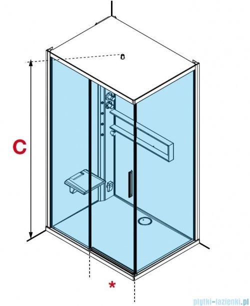 Novellini Glax 2 2.0 kabina z hydromasażem hydro plus  120x90 prawa total biała G222P299DT1L-1UU