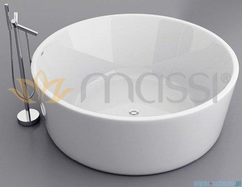 Massi Ringo wanna wolnostojąca 140x140cm biała + syfon MSWA6828
