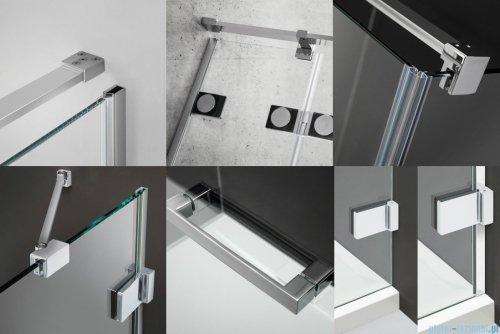 Radaway Euphoria KDJ Kabina prysznicowa 100x90 lewa szkło przejrzyste detale