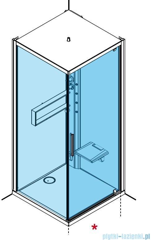 Novellini Glax 2 2.0 kabina z hydromasażem 90x90 prawa total biała G22GF90DM1-1UU
