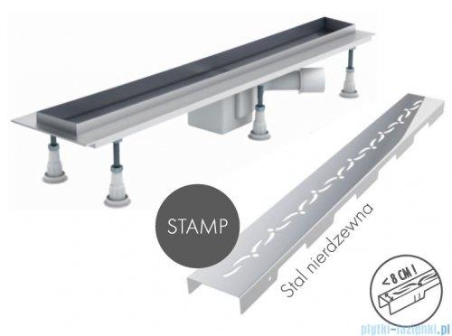 Schedpol odpływ liniowy z maskownicą Stamp 100x8x9,5cm OLSP100/ST