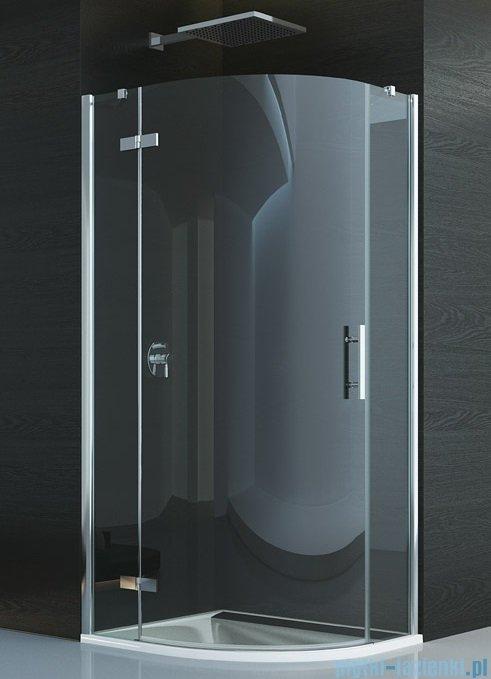 SanSwiss Pur P3P Kabina półokrągła 90cm profil chrom szkło przezroczyste Lewa P3PG550901007