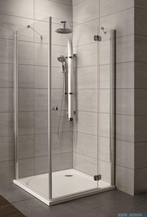 Radaway Torrenta Kdj Kabina prysznicowa 90x80 prawa szkło grafitowe + brodzik Doros D + syfon