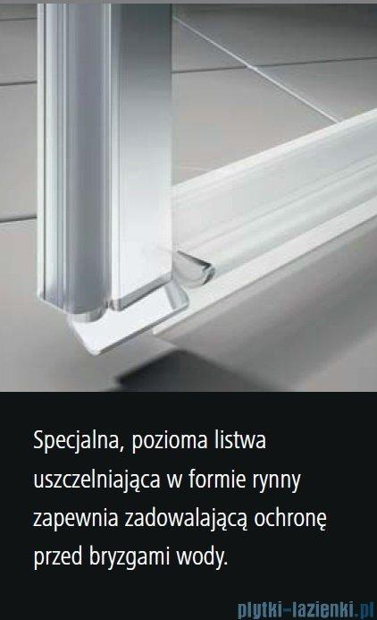 Kermi Osia Kabina prysznicowa 1 skrzydłowa lewa, szkło przezroczyste 100x80 cm OSSTL10020VPK/OSTWD08020VPK