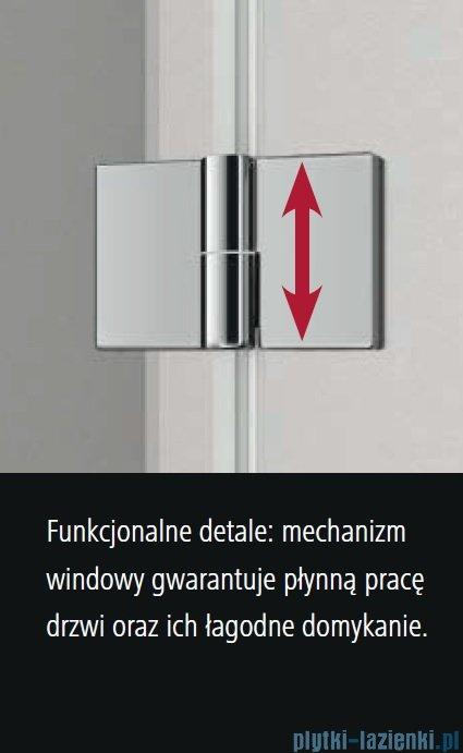 Kermi Osia Drzwi prysznicowe 1 skrzydłowe z polem stałym prawe, szkło przezroczyste 100 cm OSSTR10020VPK