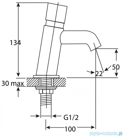 Omnires Y bateria umywalkowa czasowa chrom Y1217CR