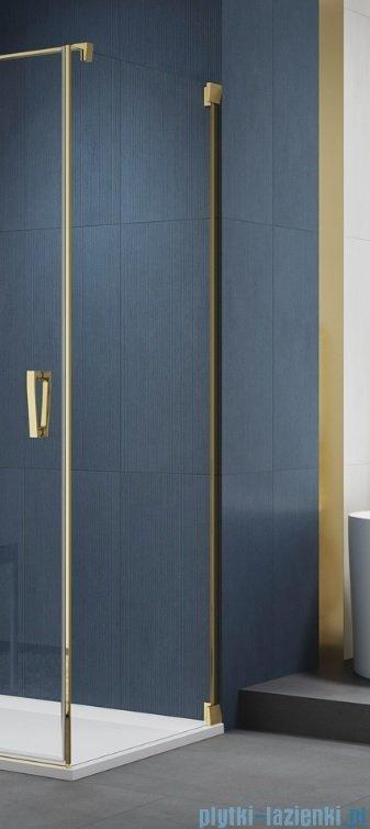 SanSwiss Cadura Gold Line ścianka boczna 80x200cm profile złote CAT10801207
