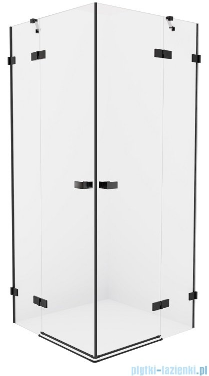 New Trendy Avexa Black kabina kwadratowa 90x90x200 cm przejrzyste EXK-1613