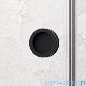 Radaway Furo Black DWJ drzwi prysznicowe 150cm lewe szkło przejrzyste 10107772-54-01L/10110730-01-01