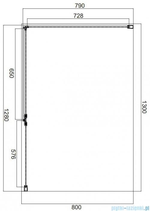 Omnires Manhattan kabina prostokątna 130x80cm szkło przejrzyste MH1380CRTR