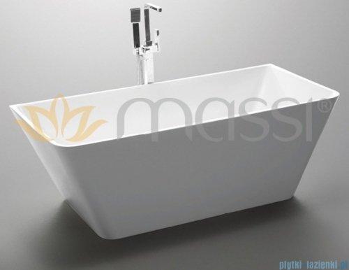 Massi Simple 170 wanna wolnostojąca prostokątna 170x80cm biała + syfon MSWA819170