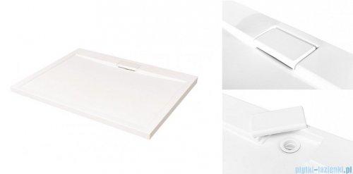 Besco Viva kabina prostokątna prawa z brodzikiem i syfonem 120x80cm przejrzyste VPP-128-195C/BAX-120-80-P