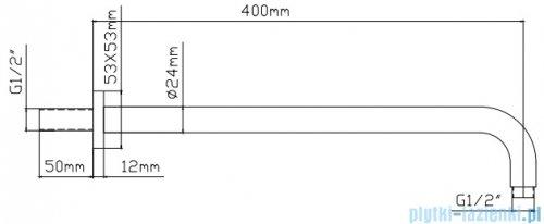 Omnires Nevada System prysznicowy natynkowy chrom/biały SYSNEVADACRB