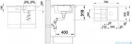 Blanco Metra 6 S Compact   Zlewozmywak Silgranit PuraDur kolor: tartufo  z kor. aut. 517353