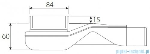 Wiper New Premium Tivano Odpływ liniowy z kołnierzem 90 cm mat 100.1968.03.090