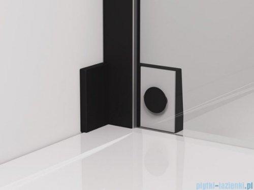 SanSwiss Cadura Black Line drzwi wahadłowe 90cm jednoczęściowe prawe z polem stałym czarny mat CA31CD0900607