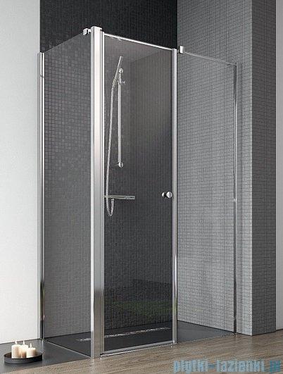 Radaway Eos II KDS kabina prysznicowa 100x100 prawa szkło przejrzyste + brodzik Delos C + syfon