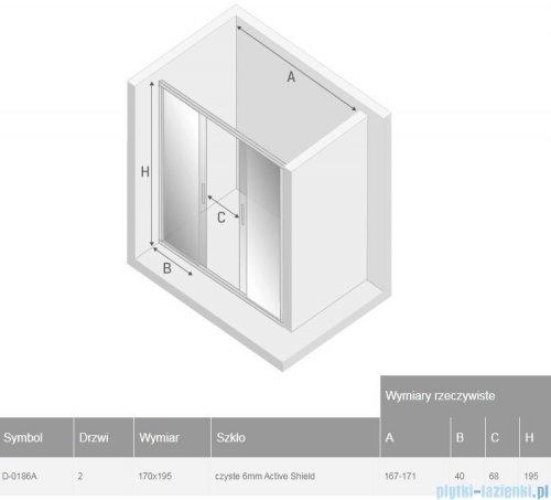 New Trendy New Corrina drzwi prysznicowe 170cm przejrzyste D-0186A