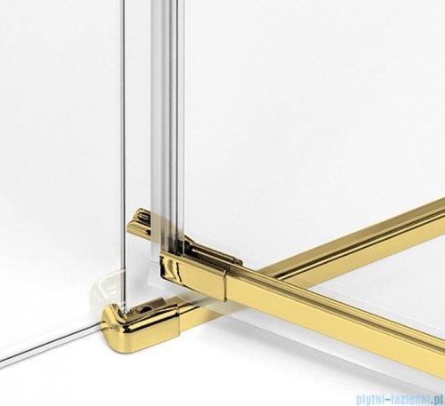 New Trendy Avexa Gold drzwi wnękowe 100x200 cm przejrzyste lewa EXK-1718