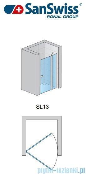 SanSwiss Swing Line SL13 Drzwi prysznicowe 120-160cm profil srebrny SL13SM20107