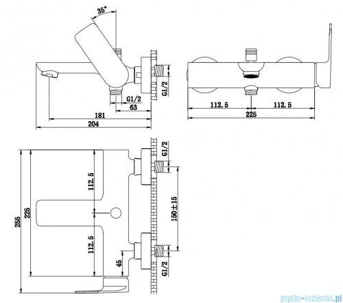 Kohlman Proxima bateria wannowa chrom QW110P