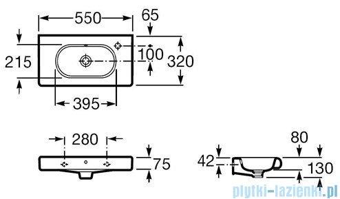 Roca Meridian-N Compacto Umywalka 55x32cm z otworem A32724Z000