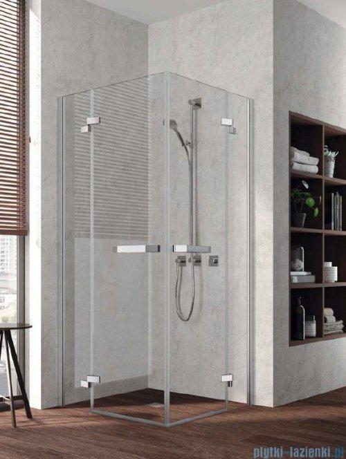 Kermi Tusca wejście narożne, jedna połowa, prawa, szkło przezroczyste KermiClean, profil srebro 80x200cm TUEPR08020VPK