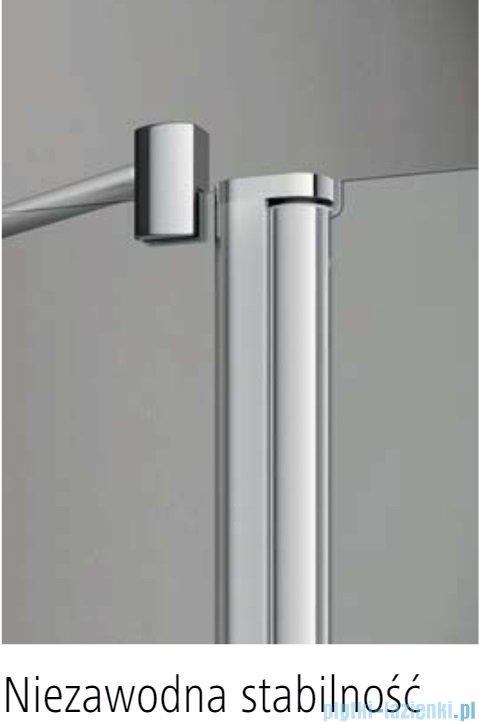 Kermi Pega drzwi przesuwne 2-skrzydłowe z dwoma polami stałymi 160 cm przejrzyste PED4B16020VPK