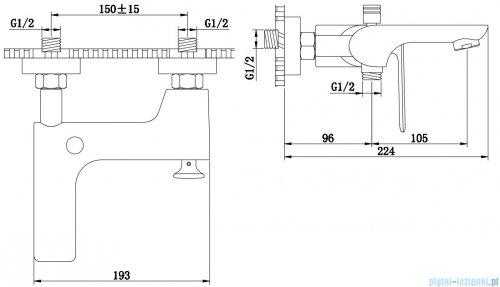 Kohlman Experience gray bateria wannowa szczotkowany grafit QW110EG