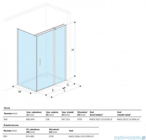 Excellent Mazo kabina kwadratowa 90x90 cm przejrzysta