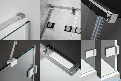 Radaway Euphoria KDJ Kabina prysznicowa 110x80 lewa szkło przejrzyste detale