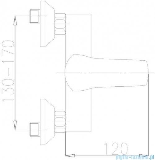 KFA Kwarc bateria natryskowa ścienna, kolor chrom 4206-010-00