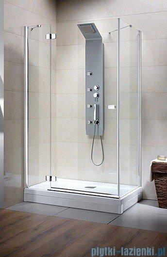 Fuenta KDJ Radaway Kabina prysznicowa 80x80 lewa szkło przejrzyste montaż na posadzce