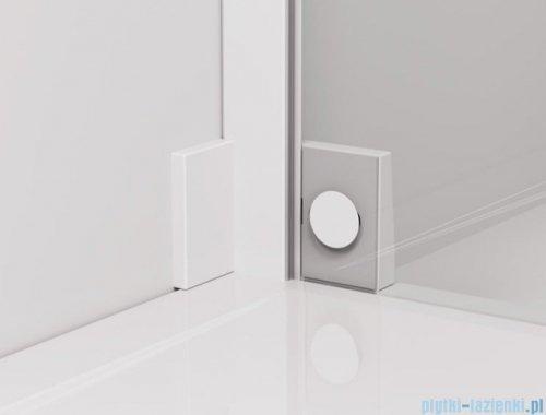 SanSwiss Cadura White Line drzwi wahadłowe 90cm jednoczęściowe prawe z polem stałym biały mat CA31CD0900907