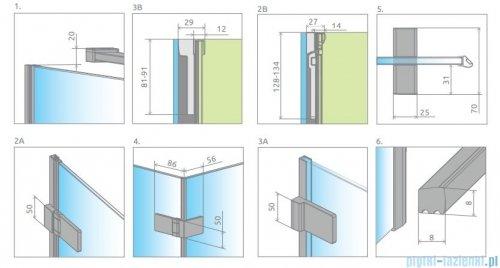 Radaway Arta Dwd+s kabina 95 (45L+50R) x70cm lewa szkło przejrzyste 386181-03-01L/386052-03-01R/386109-03-01
