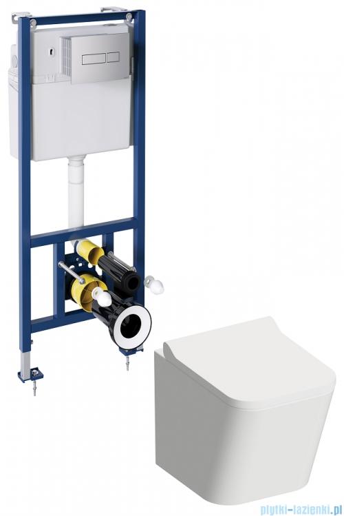 Omnires Fontana podtynkowy zestaw WC z miską + deską wolnoopadającą FONTANASETBPCR