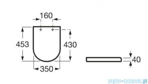 Roca Gap Round deska wolnoopadająca Slim A801D12003
