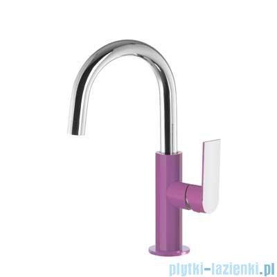 Tres Loft Colors Bateria umywalkowa z korkiem automatycznym kolor fioletowy 200.205.04.VI.D