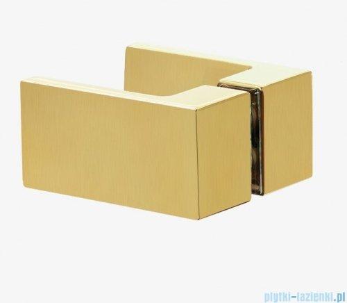 New Trendy Avexa Gold kabina prostokątna 90x80x200 cm przejrzyste prawa EXK-1743