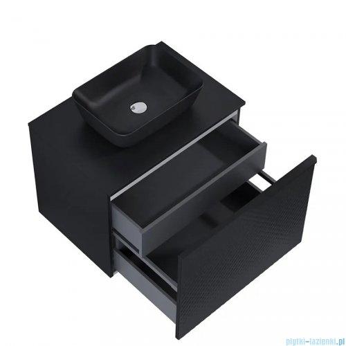 Elita Glam szafka podumywalkowa 71x54x49cm black mat 168386