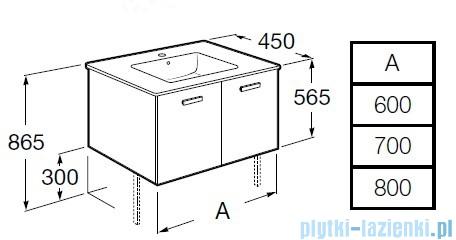 Roca Victoria Basic Zestaw łazienkowy Unik umywalka z szafką 60cm biały połysk A855883806