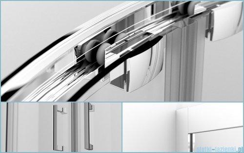 Besco Modern kabina półokrągła z brodzikiem 80x80cm przejrzyste MP-80-185-C/#BAA-80-NR