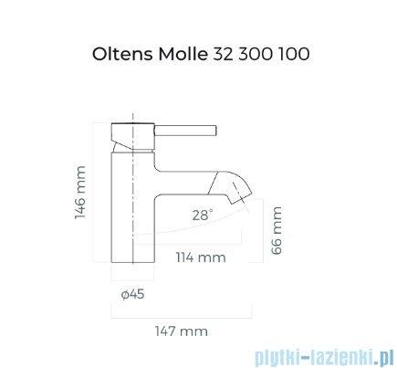 Oltens Molle bateria umywalkowa czarny mat 32200300