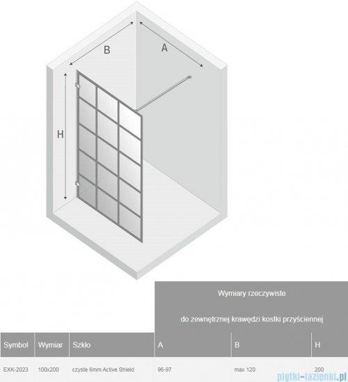 New Trendy Avexa Black kabina Walk-In 100x200 cm przejrzyste EXK-2023