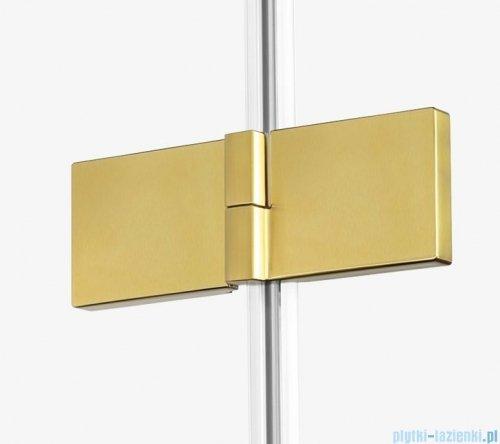 New Trendy Avexa Gold parawan nawannowy 2-częściowy 130x150 cm prawy przejrzyste EXK-2017